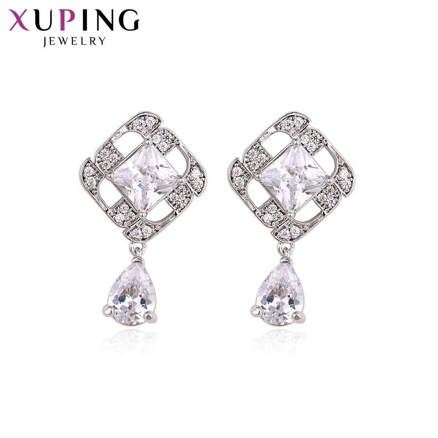 11,11 сделок Xuping модные элегантные серьги с синтетических CZ для Для женщин Рождество подарок ювелирных изделий S61-93480