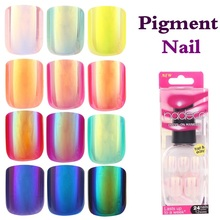 NADECO CHROME Holographic Luxury Press On Nails, pre-glued Nails