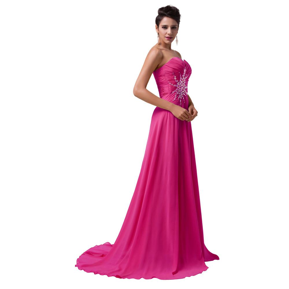 Grace Karin vestido de noche real sweetheart Rose Red Verde largo ...