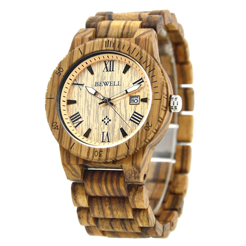 9b06447a9 Bewell الخشب ووتش relogio masculino دي luxo horloges manne رجال كبار الفاخرة  wristwatch الخشب ساعة اليد reloj هومبر 109B
