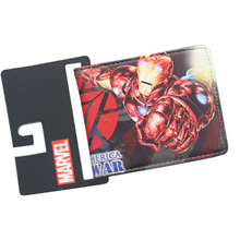 Super Heroes Movies Civil War Mens Anime Wallets Prints High Quality Short Women Purse Iron Man Bat Man Cards carteira For Boys(China)