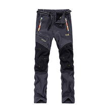 2016 Tech Fleece Softshell Hiking Pants Men Waterproof Rock Mountain Climbing Trousers Windstopper Ski Hunting Camp Dresses