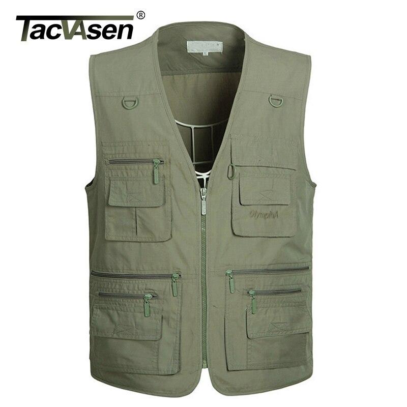 Tacvasen Zomer Tactische Mesh Vest Heren Multi Pockets Vis Vest Army Schieten Vest Bovenkleding Casual Kleding Noch Te Hard Noch Te Zacht