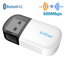 где купить Wireless Bluetooth 4.2 USB WI FI Adapter 5G/2.5G Dual Band AC 600Mbps wi fi Dongle PC Network Card Dual Band wi fi 5 Ghz Adapter дешево