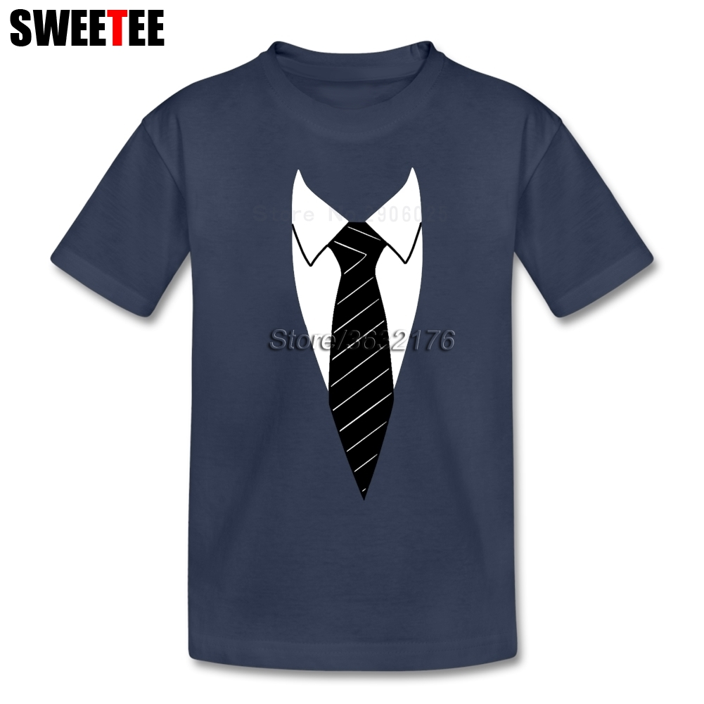 Suit Necktie Boys Girls T Shirt Cotton Short Sleeve Round Neck Tshirt Children Garment 2018 Graphic T-shirt For Baby Tie