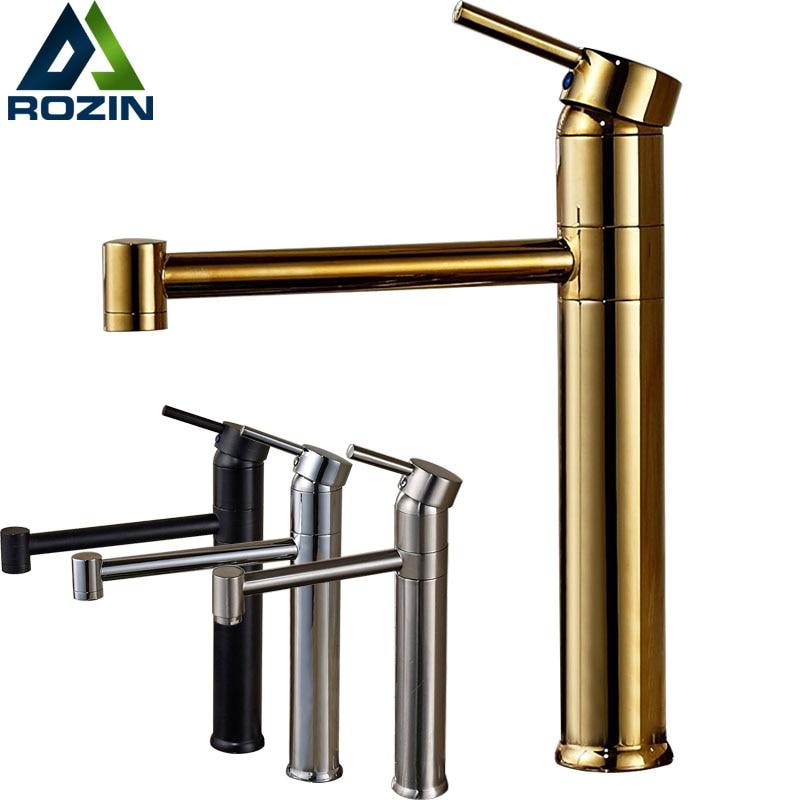 Good Quality Deck Mount Bathroom Vessel Sink Faucet Single Lever Kitchen Lavatory Mixers One Hole Hot Cold Taps