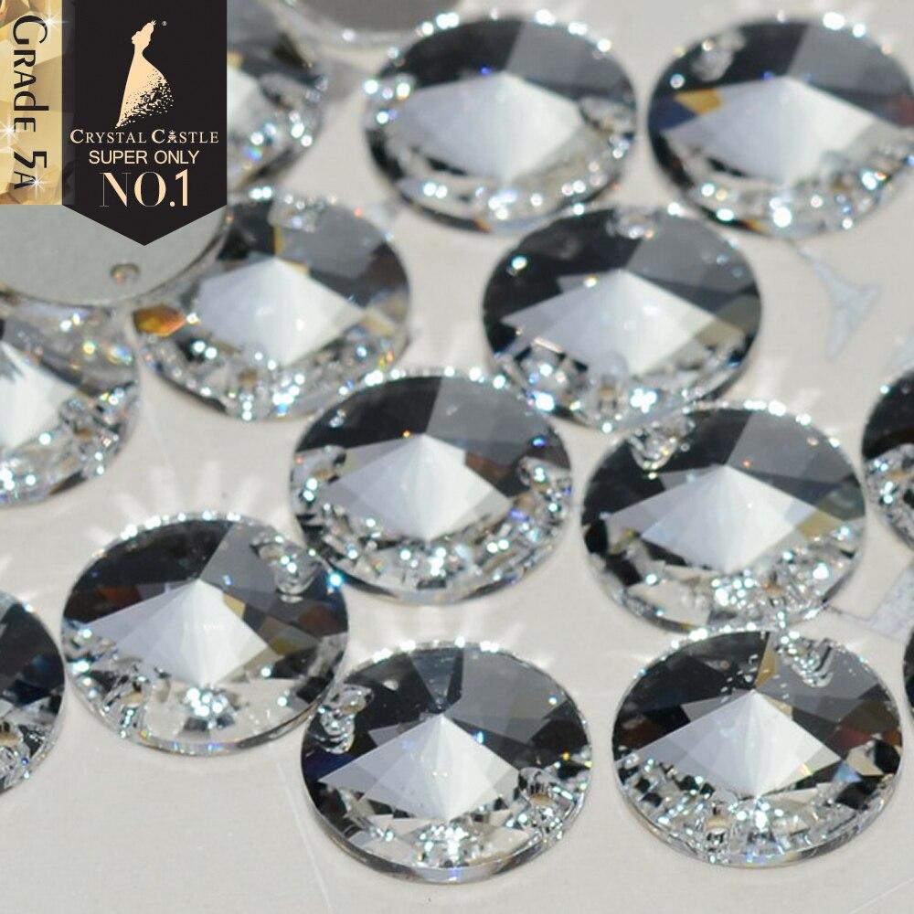Alle Größe 3200 Rivoli Runde Glas Nähen Stein Top Grade 5A Zwei Löcher Kristall Strass Nähen Auf Flatback Strass Für braut Kleid