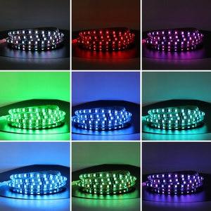 Image 4 - 12 v ledライトストリップrgb 5050黒pcb 1メートル2メートル60led/メートルpcのtv防水柔軟な12 vルームライトストリップリボンテープ装飾ランプ