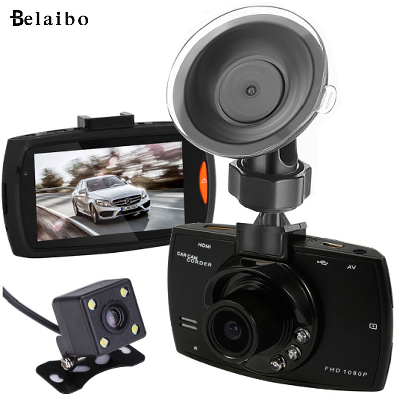 imágenes para Nno mini 2 lente LCD de Coches DVR car styling instalación conveniencia de Doble Cámara Grabadora de Vídeo Con Cámaras de Visión Trasera Noche visión