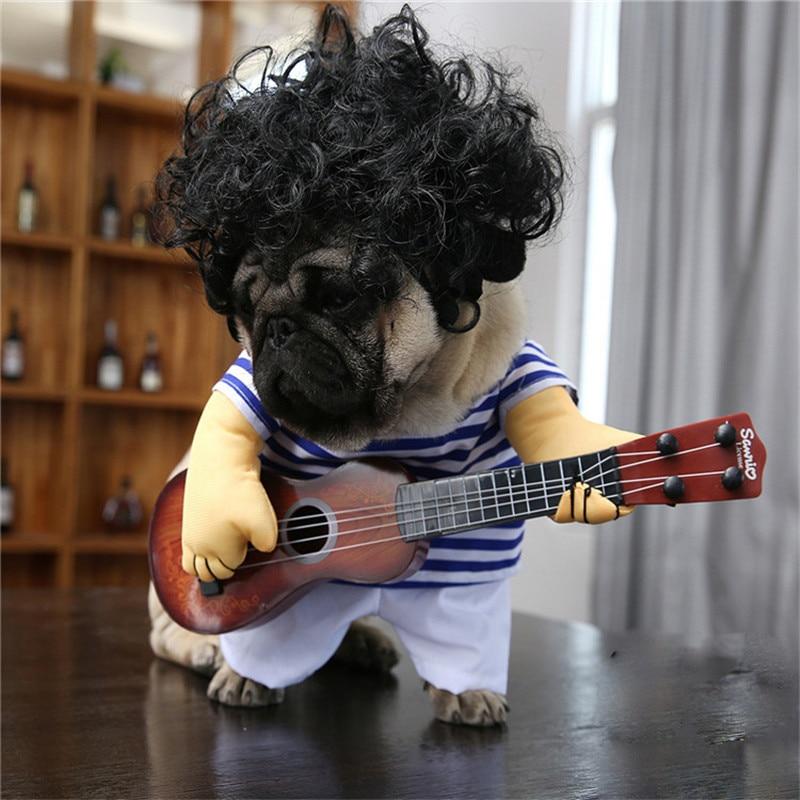 a8162811ec16 Μικρές γάτες ρούχα ρούχα σκυλιά αλλαγή Cosplay κιθάρα κοστούμι ...