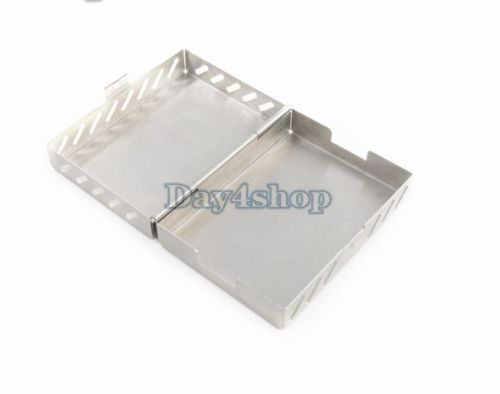 Dental Stainless Box Tray Case Holder for Implant Drill Bur Sterilization 1pc dental tool implant bur drill sterilization cassette kit organizer box new