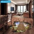Creativa puente levadizo Puente Flotante 3D etiqueta de La Pared Casero mural de pintura decorativa pegatinas de pared para habitaciones de niños dormitorio poster etiqueta