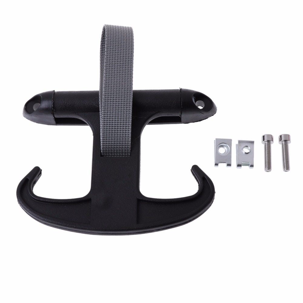 QILEJVS All'ingrosso Cargo Trunk Bag Hook Hanger Holder per VW VOLKSWAGEN Passat Jetta Audi A4 nero # 1