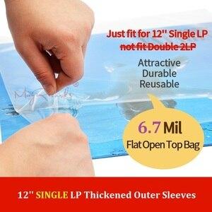 "Image 1 - 25 플랫 오픈 탑 가방 6.7 mil 강한 커버 플라스틱 비닐 레코드 외부 슬리브 12 ""싱글 lp (더블 2lp에 맞지 않음)"