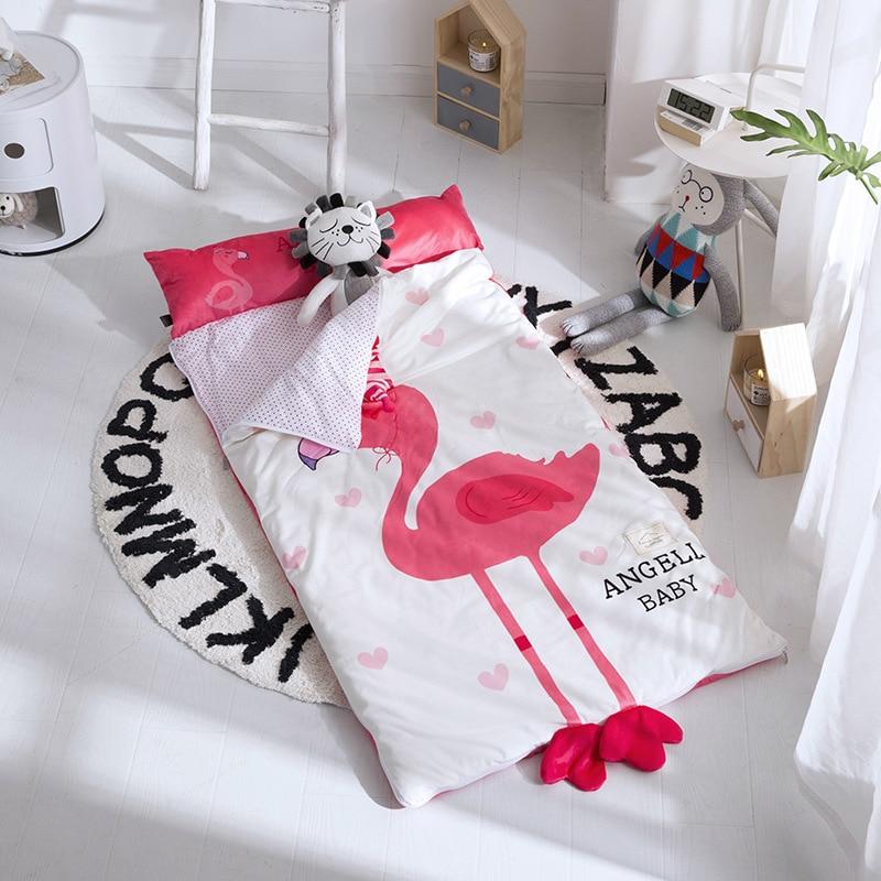 ins Baby Sleeping Bag Winter Cotton Infant Kids Anti-kick Quilt Children Sleepsacks Baby Strollers Bed Swaddle Blanket 150*75CM removable liner baby infant swaddle blanket 100