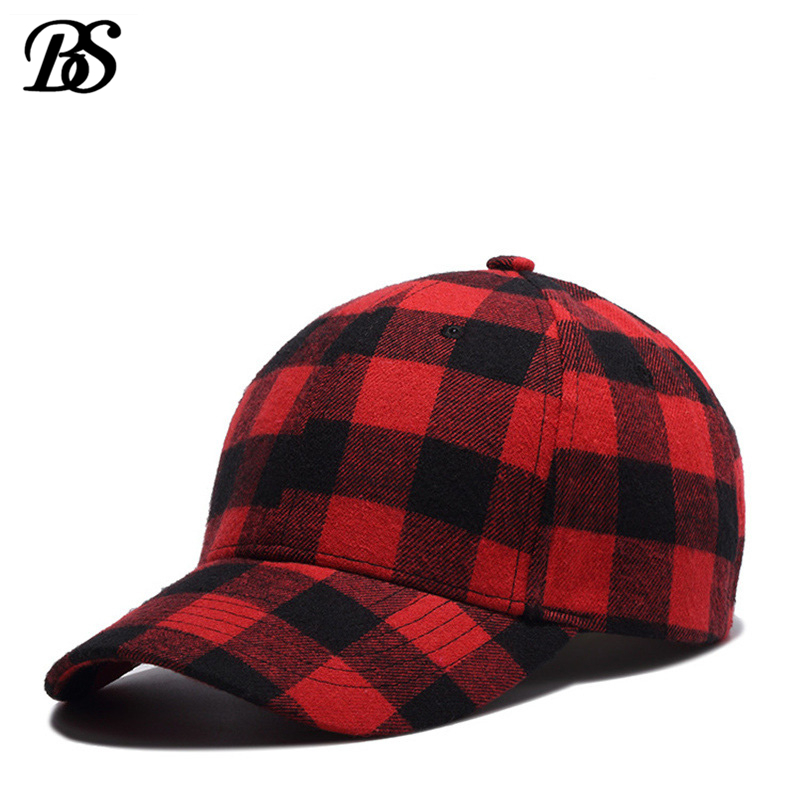 2018 Red And Black Plaid Baseball Caps Dad Hats For Men