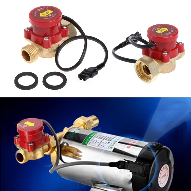 220V 60-90W Male Thread G1/2 Connector Circulation Pump Water Flow Sensor Switch mj db32 g1 1 4 use for hot water project water circulation with high accuracy air flowswitch mass air flow sensor flow switch