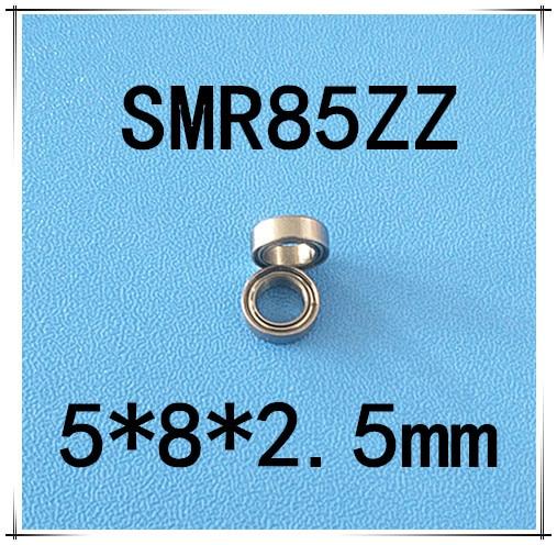 Free Shipping 10 pcs SMR85zz ABEC3 5x8x2.5mm high quality Stainless steel bearing 2pcs/lot ball bearing 5x8x2.5 free shipping 10 pcs smr85zz abec3 5x8x2 5mm high quality stainless steel bearing 2pcs lot ball bearing 5x8x2 5