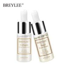 BREYLEE Snail Serum Collagen Firming Repairing Lifting Essence Hyaluronic Acid Moisturizing Anti-Aging Face Skin Care