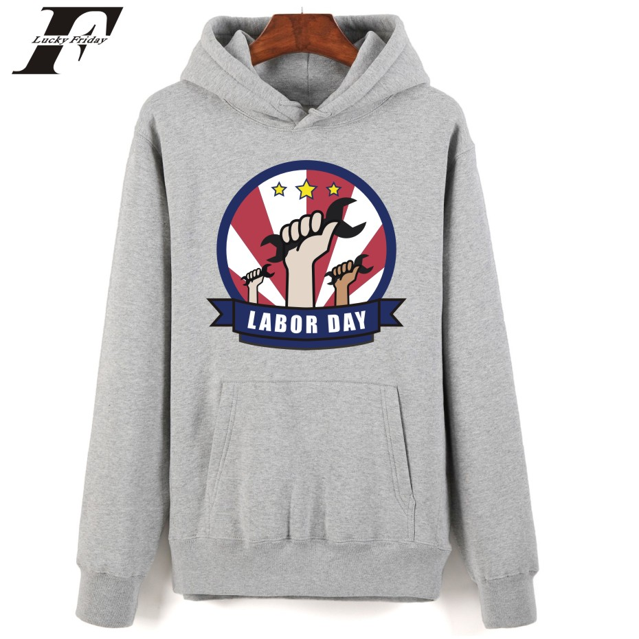 Labour day hoodies autumn winter Warm Streetwear Clothes Male hoodies sweatshirts fashion printed hoodie Labour day