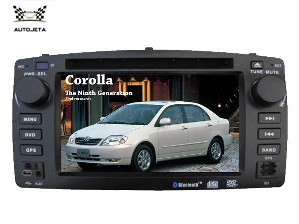 4 UI intereface в одном системы DVD плеер автомобиля для Toyota COROLLA 2003 e120 110*215 BLUETOOTH gps радио navi ТВ бесплатная географические карты