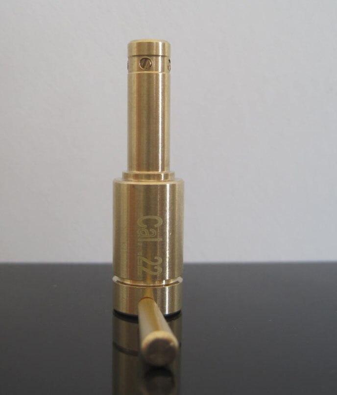 Миниатюрный лазерный картридж с отверстием-100% латунь, позолоченный