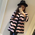 Long slim lamb fur coat women stripped real lamb fleece fur jacket women winter coat outerwear 2017 autumn free shipping