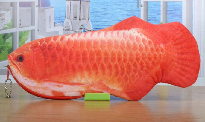 New 28.5CM Approx. 3D Novelty Fish Plush Coin BAG Case ; BIG Capacity SIZE Lady Girl's Coin pouch Purse Wallet Pouch BAG