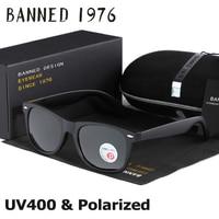 BANNED Classic Polarized UV400 Men Women Sunglasses Cool Oval Driving Fashion Vintage Brand New Sun Glasses