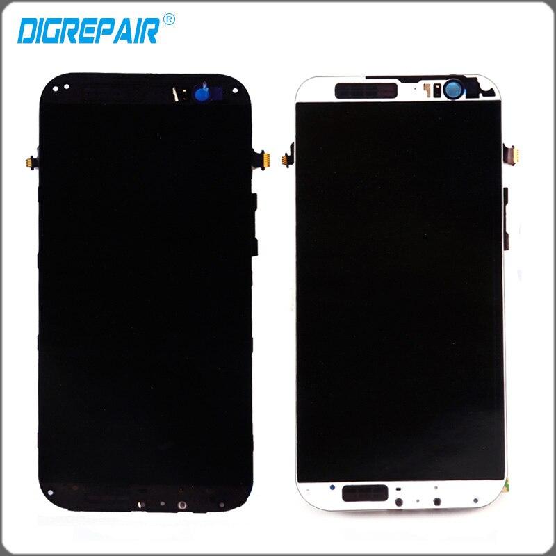 imágenes para Oro Negro blanco Pantalla LCD de Pantalla Táctil Digitalizador Asamblea completa con el marco Del Bisel Asamblea pieza de Recambio Para HTC Uno M8