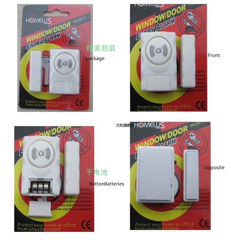 Darho Security 2Pcs110dB Wireless Window Door Burglar Security Alarm System Magnetic Sensor For Home Store Shop Security System 13