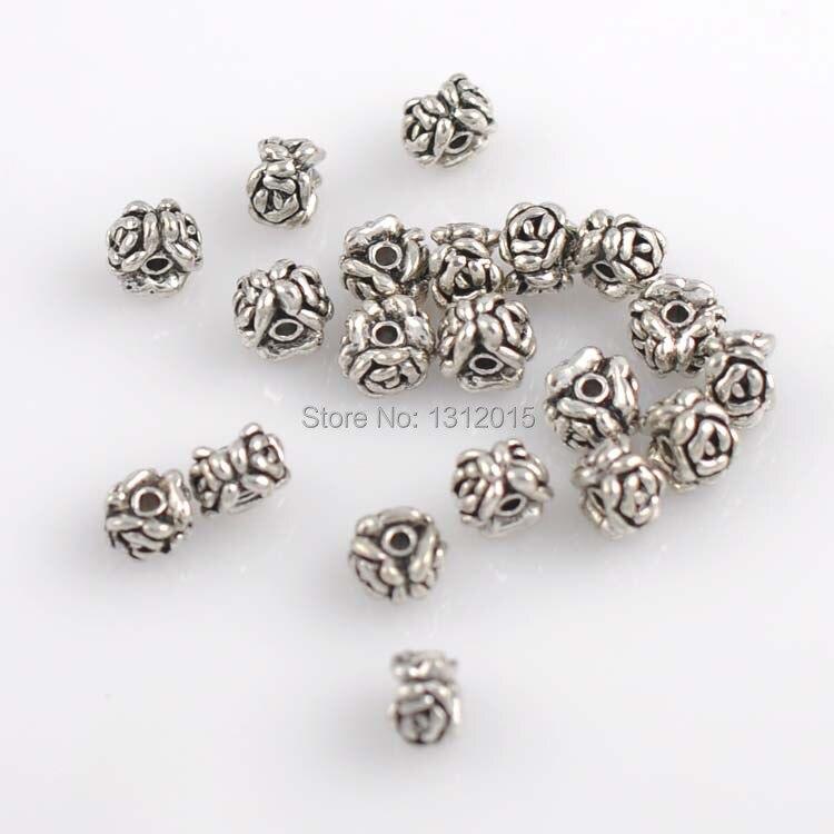 10 Métal Coeur Spacer Tibet Argent 12 mm trou 0,5 mm Métal Perles Pour Chaînes