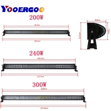 4D 42 50 52inch Offroad LED Light Bar 240W 288W  300W 6000K Spotlight Flood Combo Beam For Jeep SUV UAZ ATV Truck Work Light