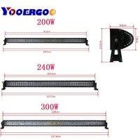 4D 42 50 52inch Offroad LED Light Bar 240W 288W 300W 6000K Spotlight Flood Combo Beam For Jeep SUV UAZ ATV Truck Work Light