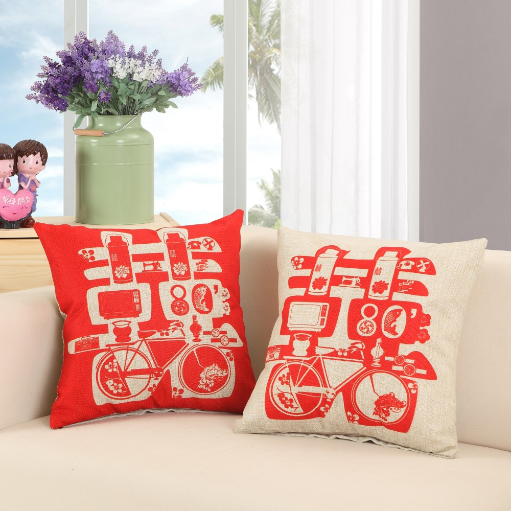 Chair Pad Covers Wedding Best Company Swivel Rocker Chinese Style Couple Cushion Happiness Pillow 45 45cm Romantic Lovers Pillows Bed Sofa