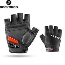 RockBros Cycling Gloves Breathable Half Finger Bicycle Bike Gloves Silicone Gel Thickened Shockproof Accessories Sport Equipment gub endurance cycling gloves bicycle bike fingerless gloves silicone half short finger extra gel gloves double gel vent padding