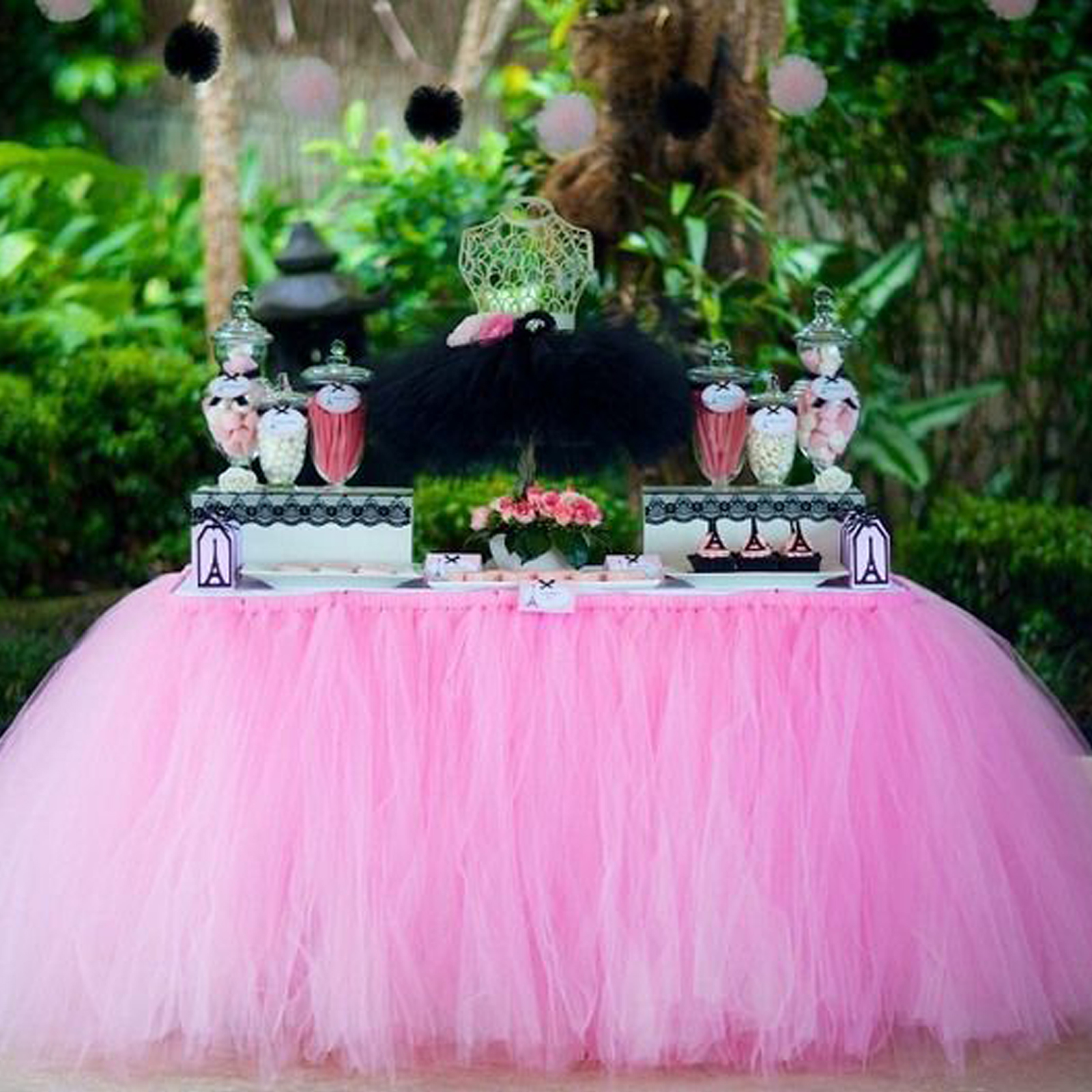 1pcs DIY Tulle Table Skirt Tableware Cloth For Birthday Baby Shower Banquet Party Wedding Table Skirting Home Decoration1pcs DIY Tulle Table Skirt Tableware Cloth For Birthday Baby Shower Banquet Party Wedding Table Skirting Home Decoration