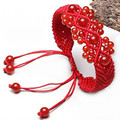 String knitted red agate Natural Red Agate Womens Bracelet Knitted Red String Bracelets Female Accessories