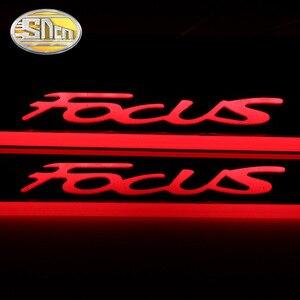Image 3 - Sncn 4 Stuks Auto Led Instaplijsten Voor Ford Focus 2 3 4 MK2 MK3 MK4 Ultra Dunne Acryl dynamische Led Welkom Licht Scuff Plaat Pedaal
