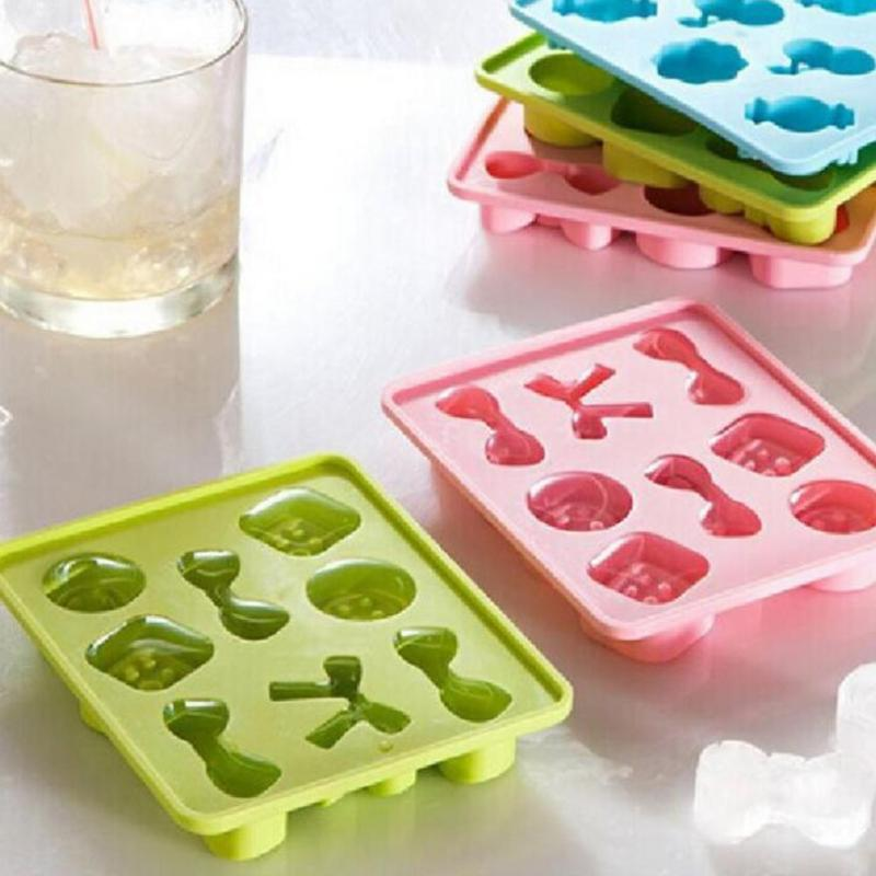 1 Pcs DIY Home Buttons Bowknots Candy Silicone Mold Summer Icecream Cube Tray Chocolate Baking Mould Kitchen Tool Accessories 45
