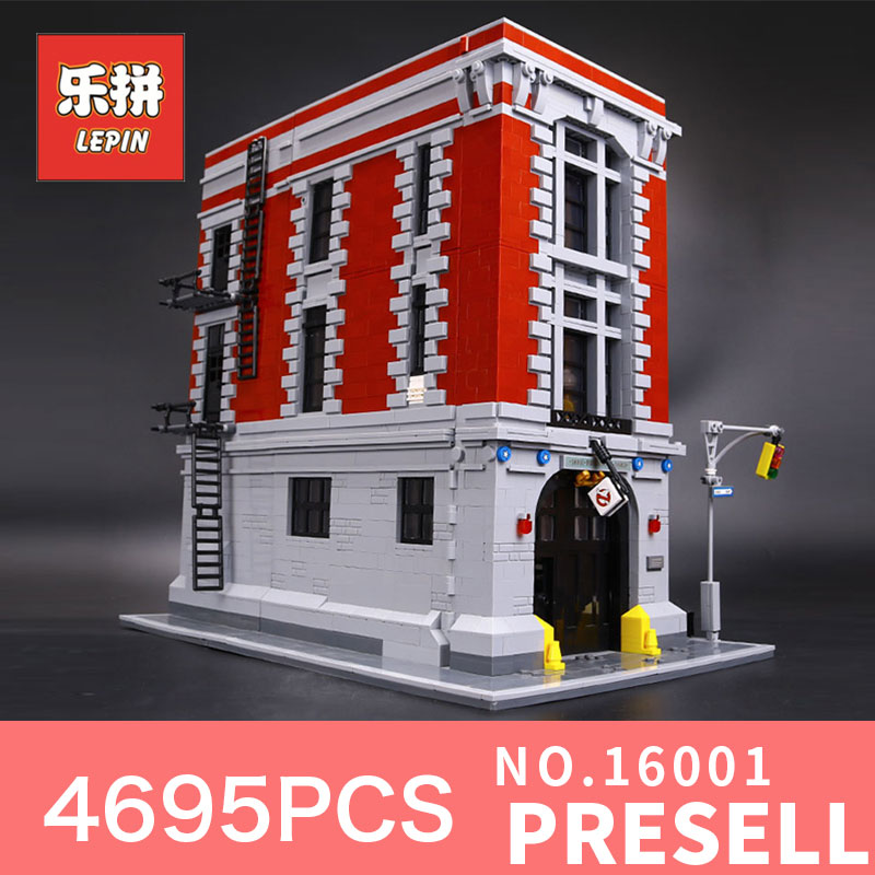 4695Pcs Lepin 16001 City series Firehouse Headquarters house Model Building Blocks Compatible 75827 Architecture Toy to children a toy a dream lepin 24027 city series 3 in 1 building series american style house villa building blocks 4956 brick toys