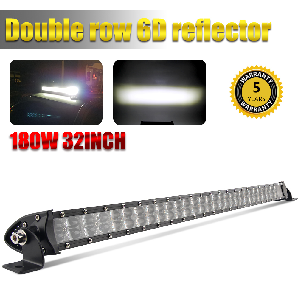 CO LIGHT 6D NEW 32inch 180W LED Work Light Bar Dual Row Combo Led Bar Offroad Driving Lamp for 4WD Offroad 4x4 ATV Truck 12V 24V система освещения brand new 42 400w offroad osram 12v 24v 4wd atv 4 x 4