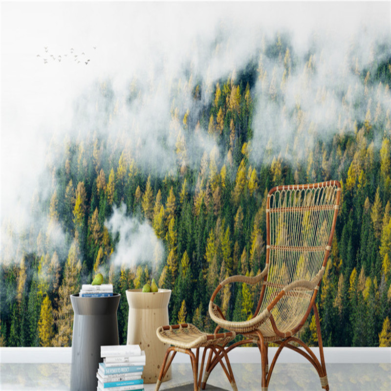 European Style Wallpapers Nature Landscape Wall Mural 3D Custom Photo Forest Walls Papers Home Decor for Living Room Tree Forest custom european style wallpapers little angel fresco wallpaper for walls 3d hotel greek mythology mural western photo wallpapers