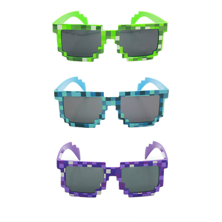 3 style Fashion Sunglasses Kids cos play action Game Toys Minecrafter Square Glasses with EVA case gifts for Men Women dressuup 2016 vintage oversized sunglasses women men brand designer square sun glasses uv400 lunettes de soleil femme gafas