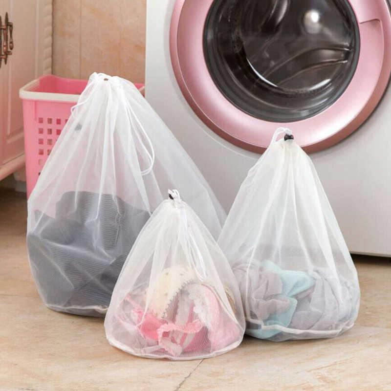 Nova 1 Pcs Sacos de Lavandaria para Cesta de Roupa Suja cesto de Roupa Suja Net Wash Bag Bolsa de Proteção Net Saco de Roupa Suja Com Zíper