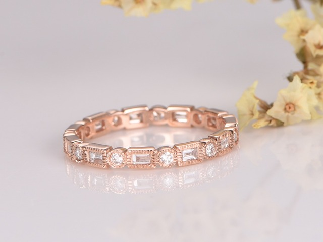 half bezel set diamond eternity band il wedding rope ring rings diamonds twist gold white engagement