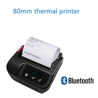 Bluetooth Thermal Printer 80mm Wireless thermal label receipt Barcode printer