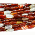 "Discount Wholesale Natural Genuine Red Agate Rice Shape Oval Loose Beads 6x12mm Fit Jewelry DIY Necklace or Bracelets 15"" 03016"