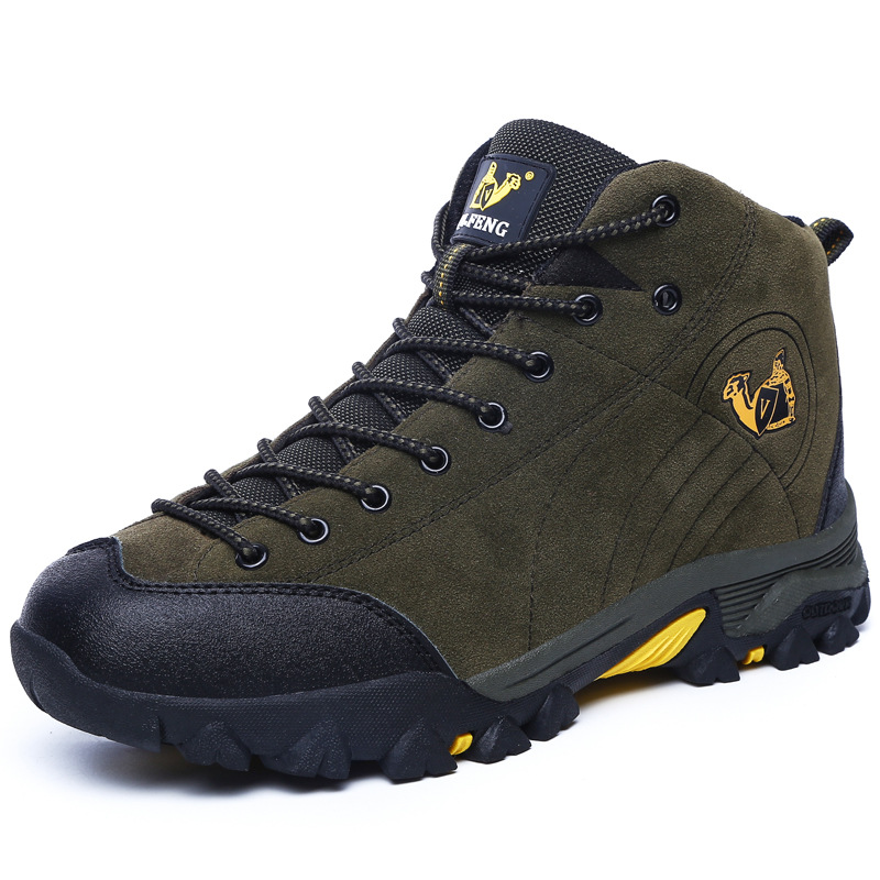High Top Winter High Shoes Couples Outdoor Climbing Non-Skid Wear Warm Hiking Shoes Men Women Sport Men's Shoes Walking yin qi shi man winter outdoor shoes hiking camping trip high top hiking boots cow leather durable female plush warm outdoor boot