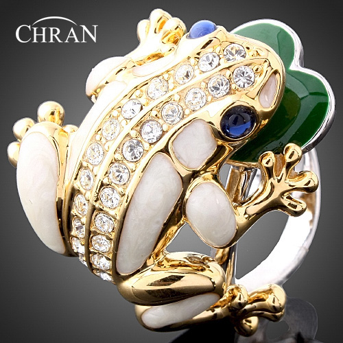 Lovely Fox Design Ladies Finger Rings Elegant Crystal Gold Color Vintage Rings for Women in Rings from Jewelry Accessories